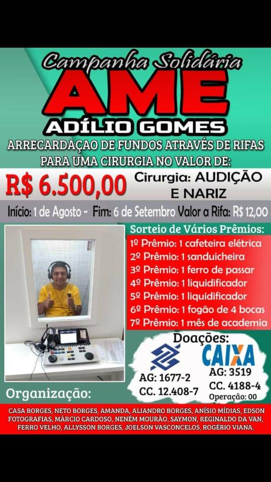 Campanha Ajude Adilio Gomes