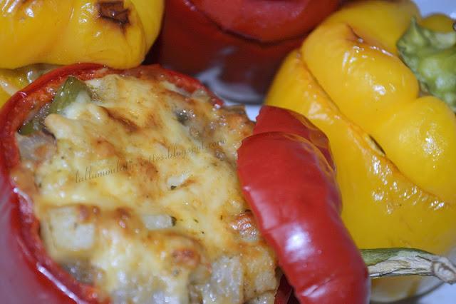 Recette facile et rapide des Poivrons farcis aux légumes au four