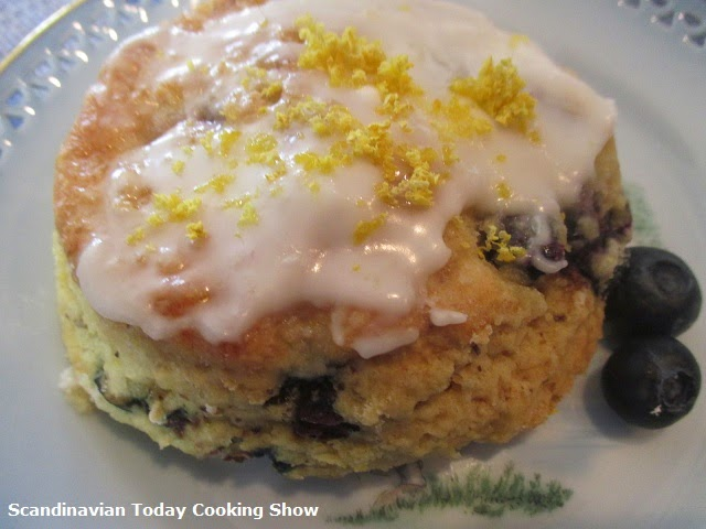 ... Today Cooking Show: Blueberry Almond Scones with Lemon Glaze