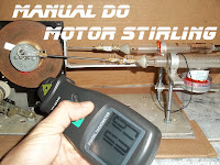 Manual do motor Stirling, Alfa, 1000 rpm caseiro e simples