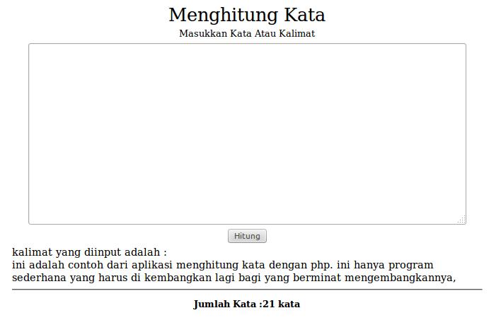 Tutorial Menghitung Jumlah Karakter text dengan PHP