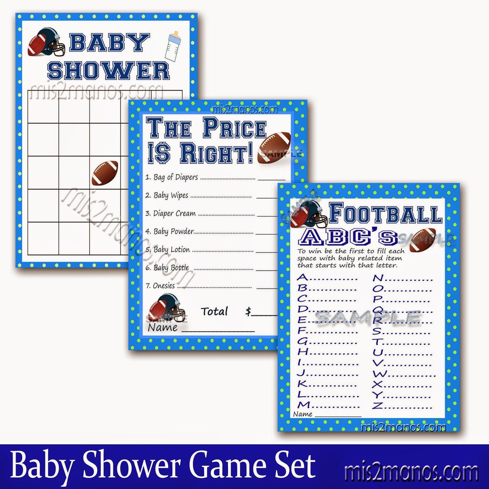 football baby shower game set of 3 bingo ref shop home active 23