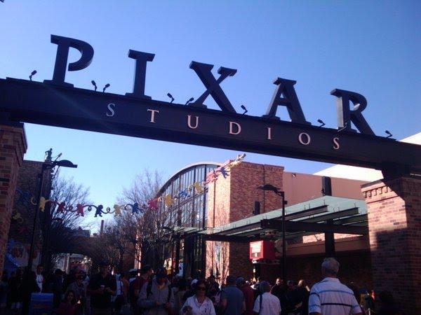 pixar studios tour. entrance to Pixar Studios.