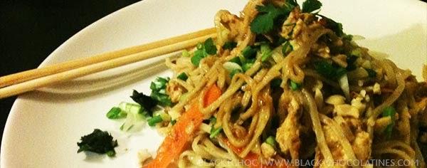 Recette traditionnelle de Pad Thaï au poulet