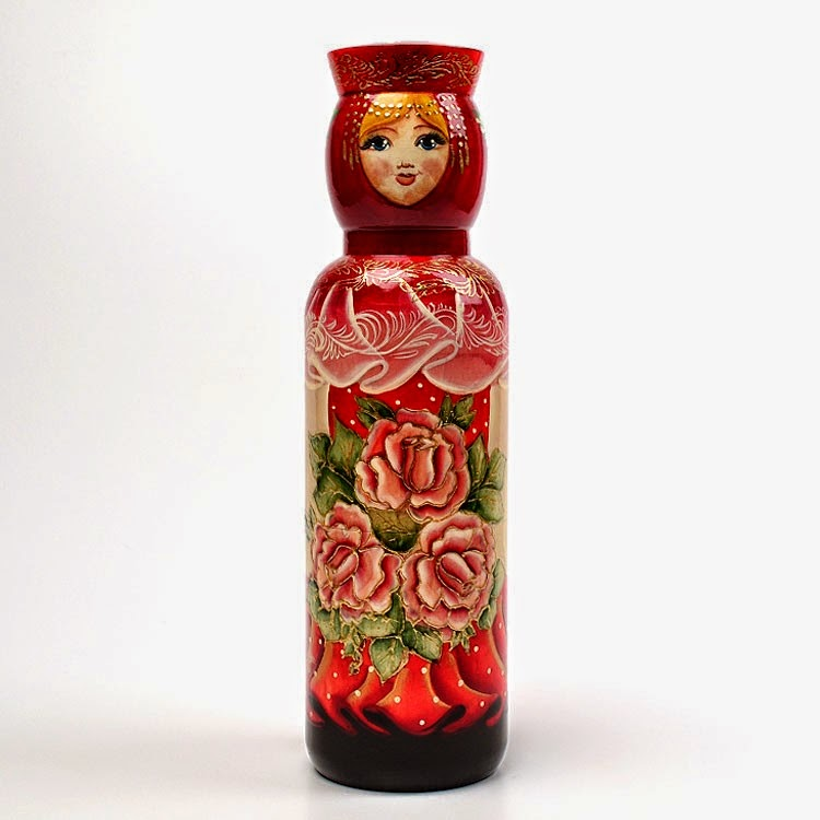 Russian Bottle Holder - Rose Princess