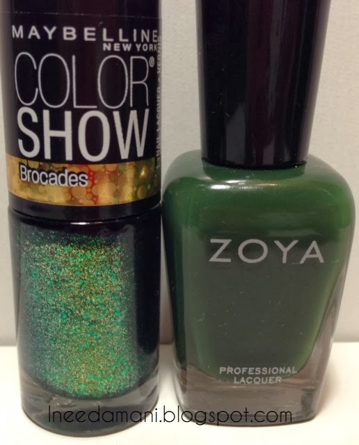 maybelline color show brocades emerald elegance st patricks day green nails