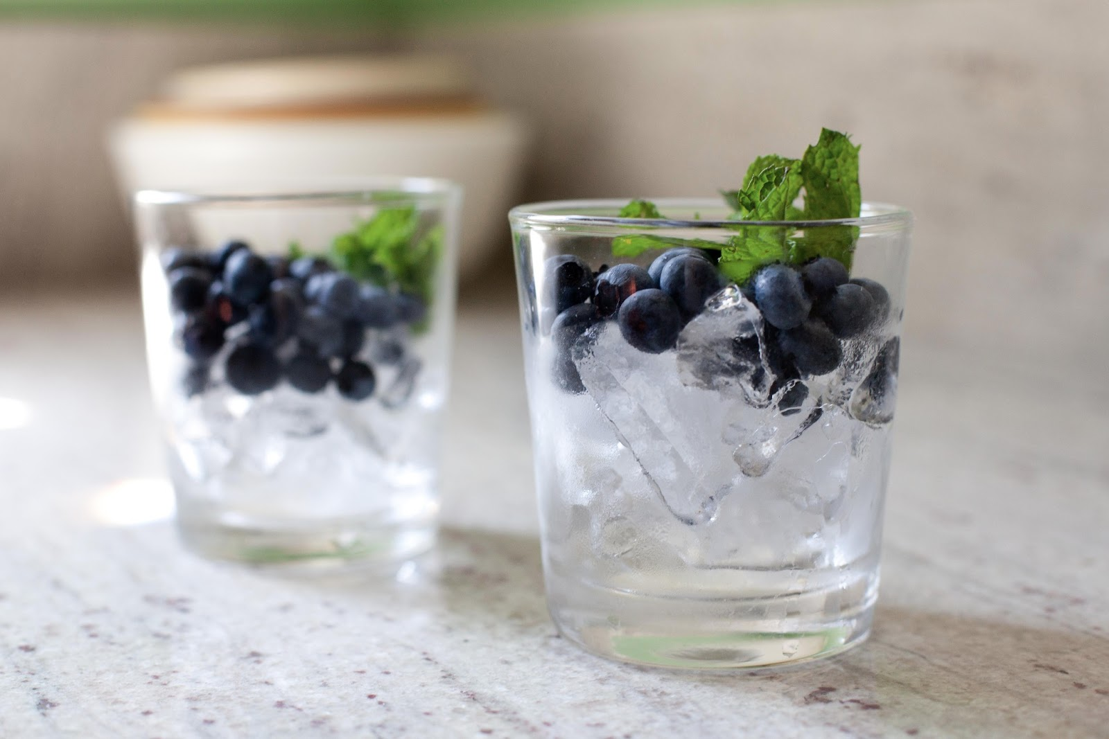 ... packs a punch you will need ice blueberries mint bourbon and lemonade