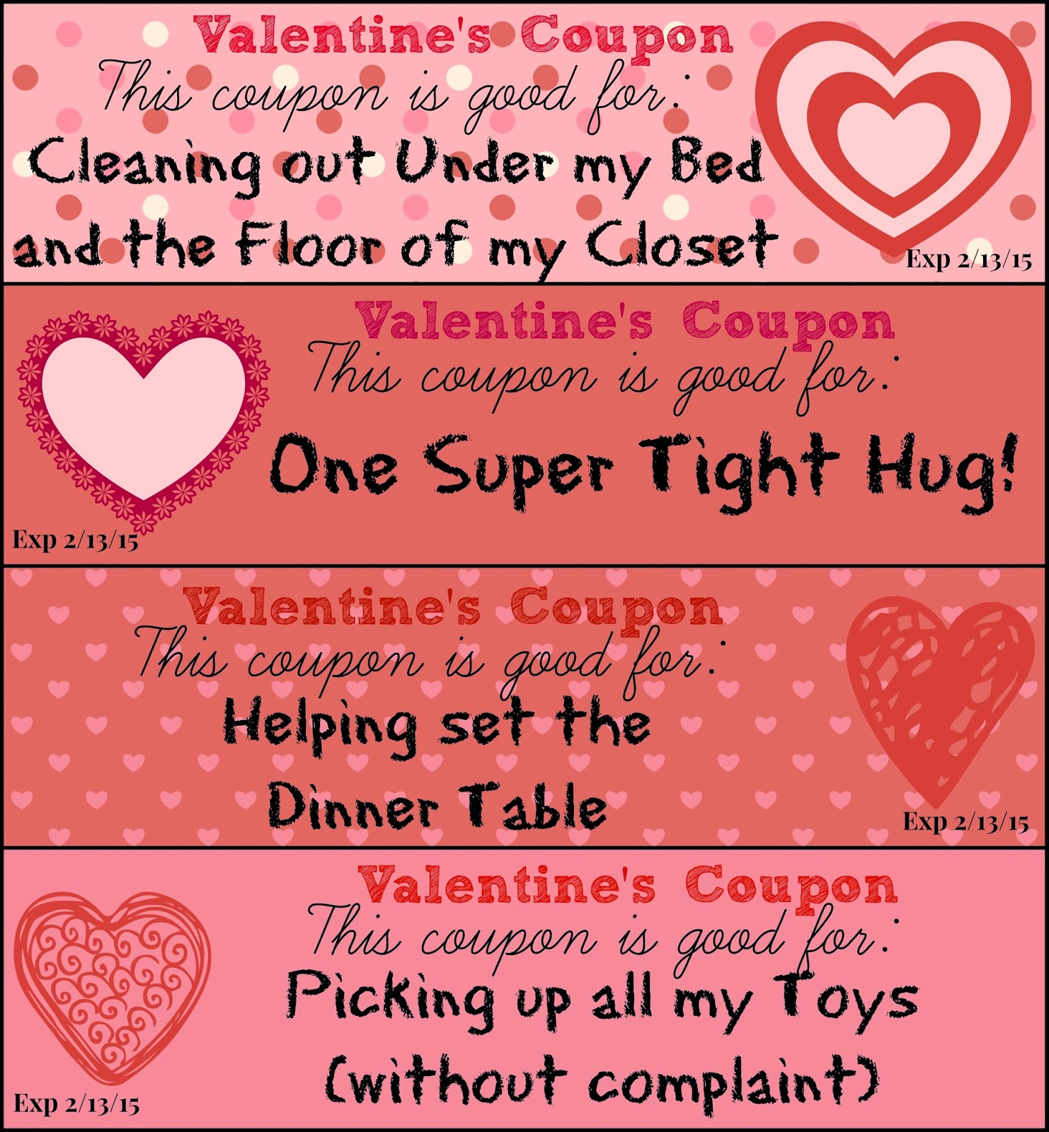 what are good ideas for a parent coupon book answerscom - Valentines Day Coupon Book