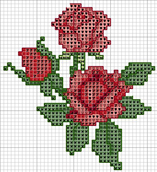 Вышивка крестом цветка схема