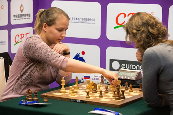 Valentina Gunina bat Anna Muzychuk aux Jeux mondiaux de l'esprit à Pékin - Photo © site officiel