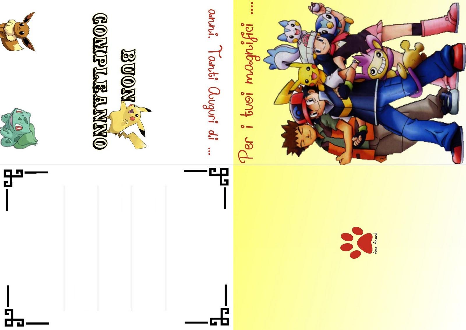 Biglietti Auguri Compleanno Pokemon Da Stampare