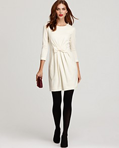 Black Sheath Dress on White Dress  With Black Opaque Tights  And Black Heels  Perfection