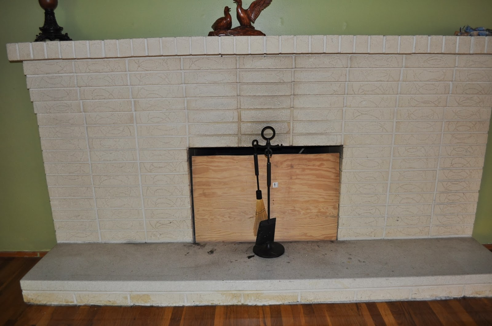 Walking with dancers the family room s fireplace update - Painting A Brick Fireplace The Salted Home