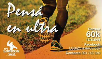 Ultramaratón Lobizón Race 60k y 30k (rutas por Canelones, 13/mar/2016)