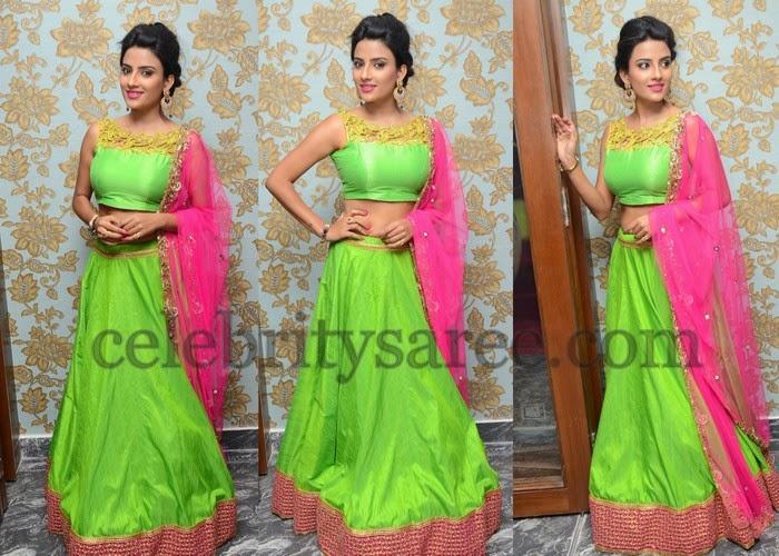 Jyothi Sethi in Parrot Green Lehenga