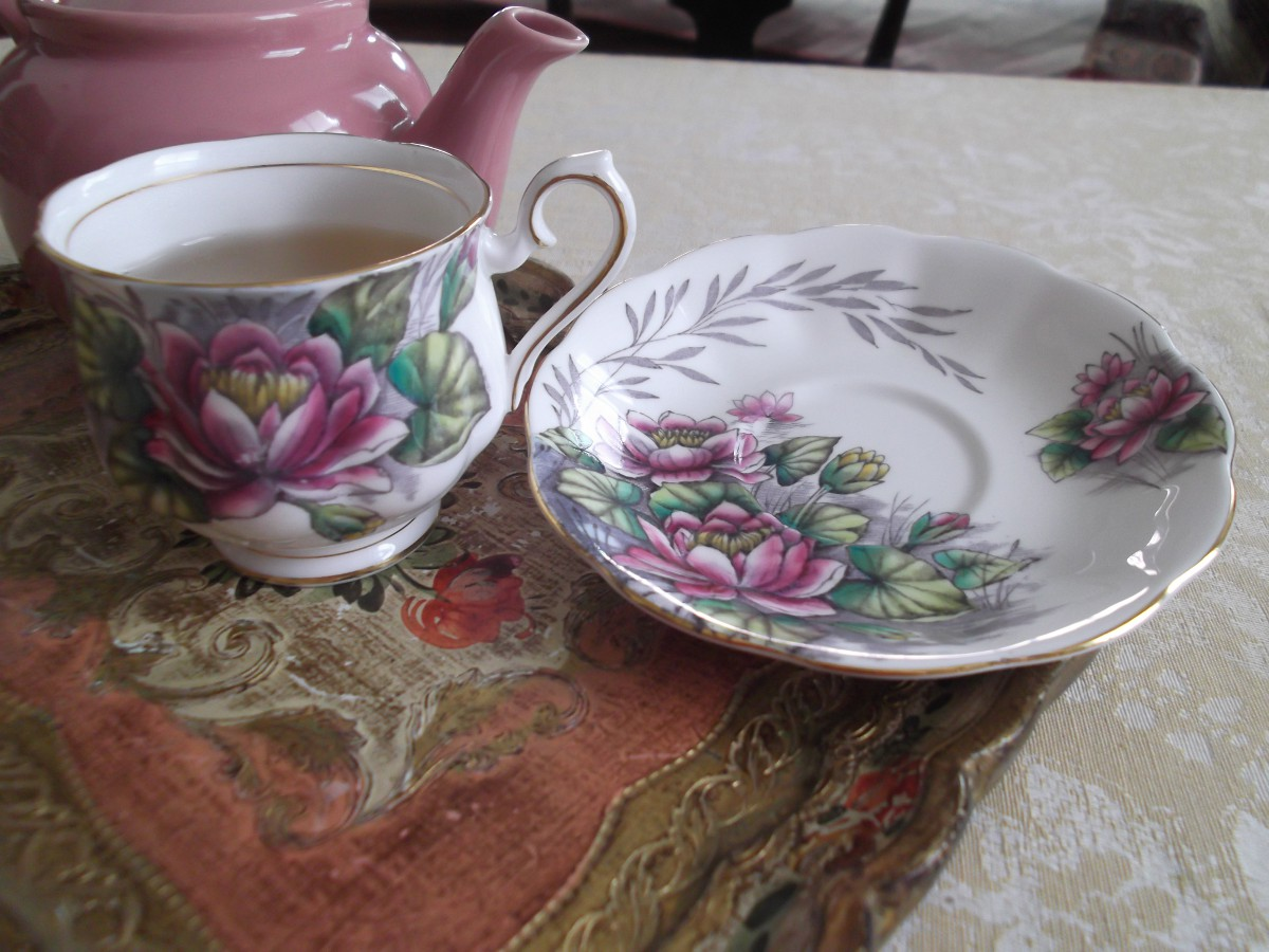 Azure tea cup of the month dog rose and water lily this is royal alberts july flower of the month tea cup water lily this is one of my favorite patterns in the series because the water lily seems like izmirmasajfo