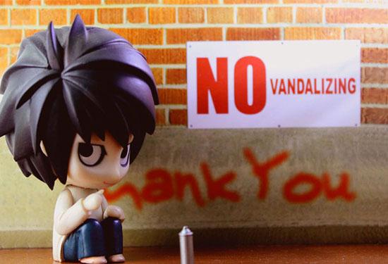 no vandalizing