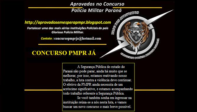 CONCURSO SOLDADO POLÍCIA MILITAR PARANÁ 2014/2015 JÁ!