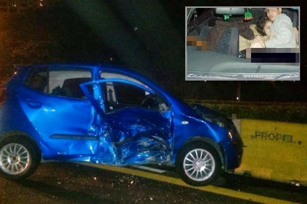 S eks dalam kereta Pasangan tangkap selepas 1 jam lari dari Polis