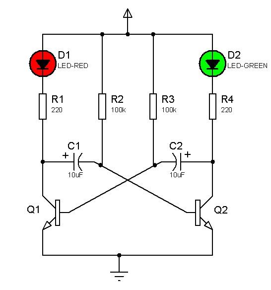 neodigitalis  oscilador astable sencillo