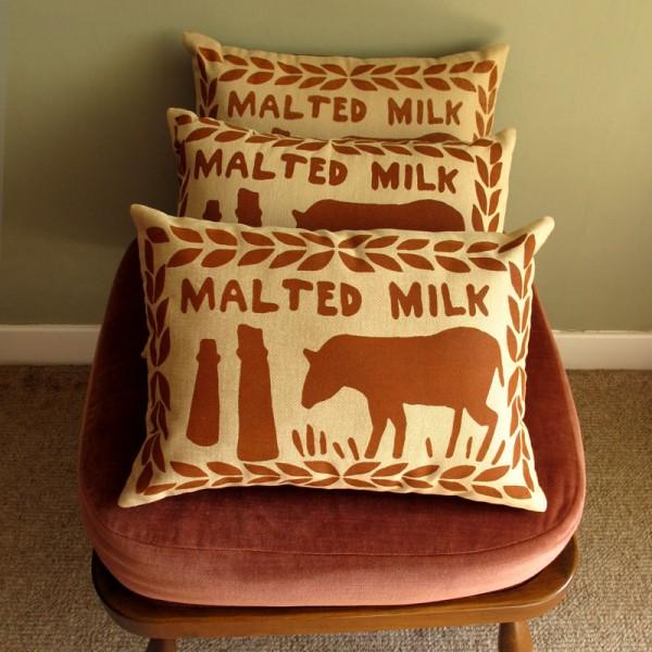Malted Milk cushions