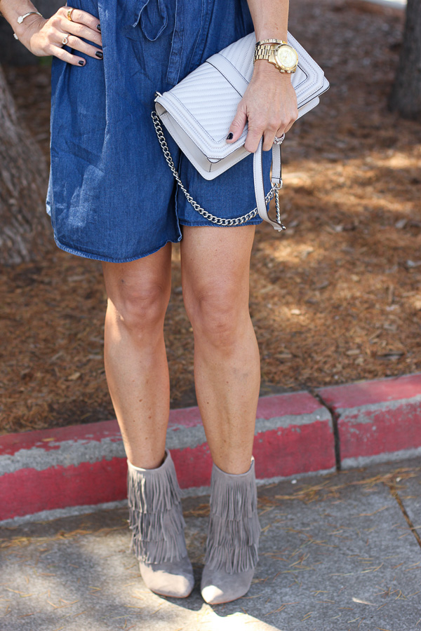 booties with fringe