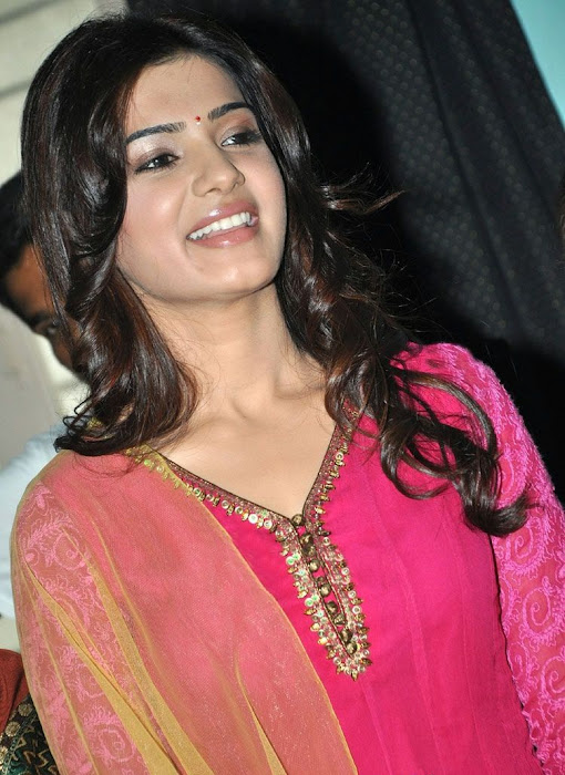samantha beautiful in pink churidar hot photoshoot