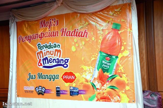 Majlis Penyampaian Hadiah Peraduan Minum & Menang Jus Mangga Pran