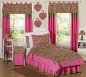 cheetah print girls bedding