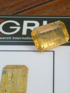 natural yellow Topaz