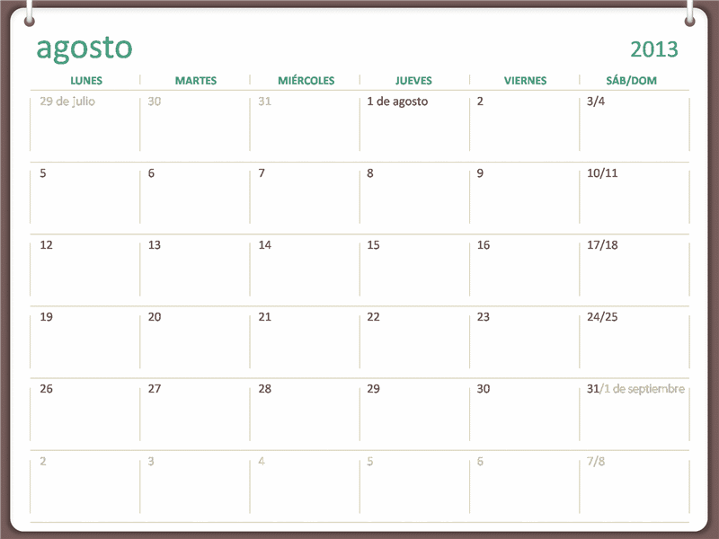 Microsoft Office Calendar Template 2014