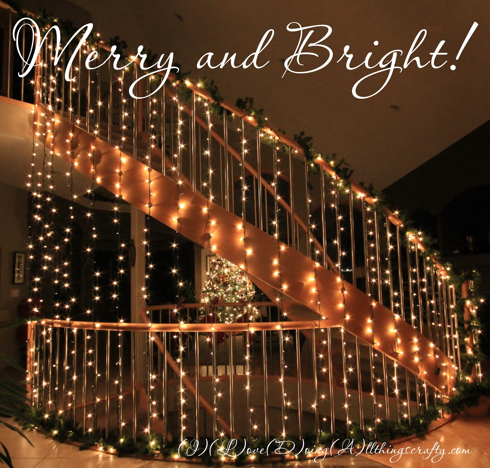 Fixing Christmas Lights To Wall : I Love Doing All Things Crafty: DIY Wall/Staircase of Lights