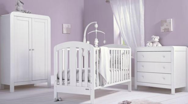 Space saving tips for a small nursery two of a kind for Nursery furniture for small spaces