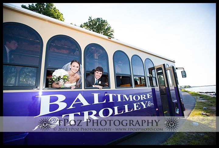 bride & groom trolley