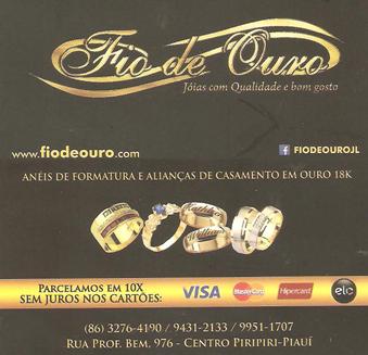 FIO DE OURO - ACEITA-SE CARTÕES: VISA, MASTERCARD E HIPERCARD