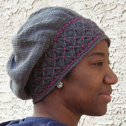 bonnet-smocks-tricot-fil contrastant