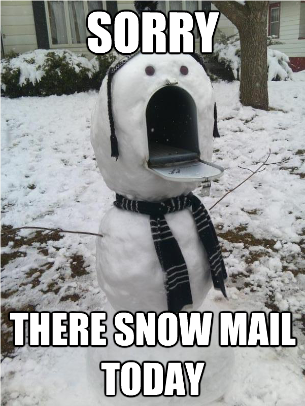 A snowman with a lot to say.