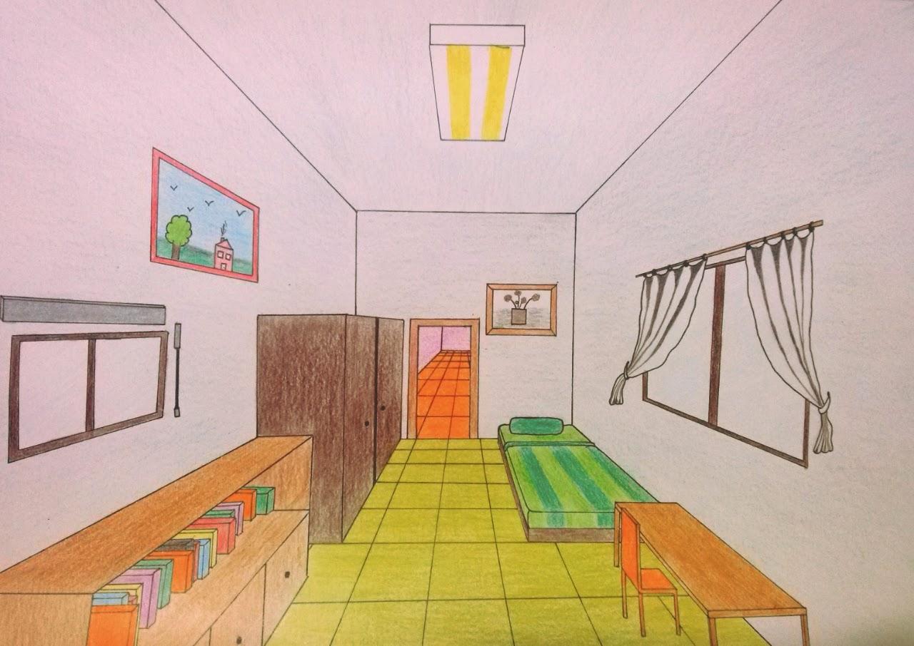 Como dibujar una habitacion en perspectiva conica frontal for Definicion de cuarto
