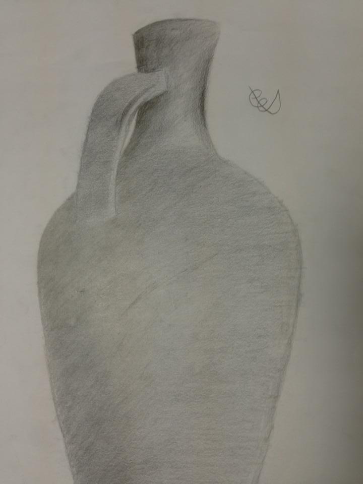 Karakalem Vazo çizimi Charcoal Drawing Vase Erdogan Taskurt