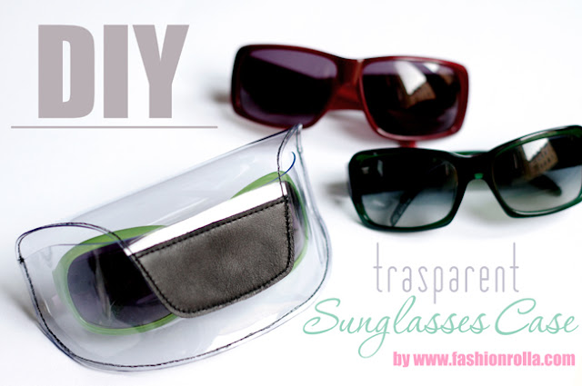 DIY transparent sunglasses case designed by Xenia Kuhn for fashionrolla.com
