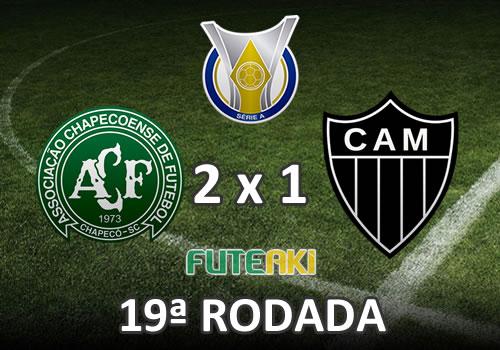 Veja o resumo da partida com os gols e os melhores momentos de Chapecoense 2x1 Atlético-MG pela 19ª rodada do Brasileirão 2015