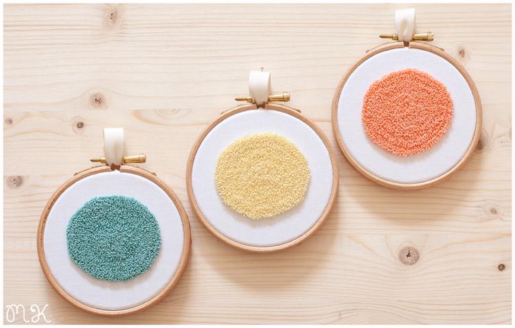 Bastidores decorativos círculos en tonos pastel