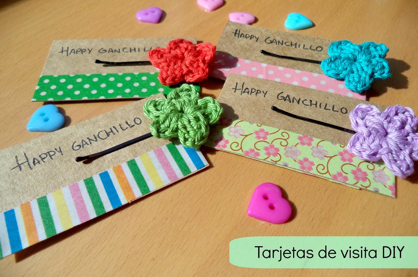 Happy Ganchillo Cmo hacer tarjetas de visita DIY