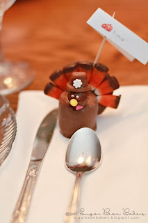 Turkey Candy Place Card by Sugar Bean Bakers