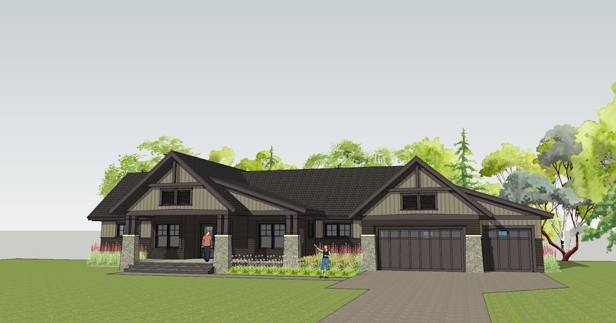 Simply elegant home designs blog new twist on a craftsman for Elegant farmhouse plans