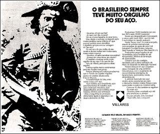 aços Villares, os anos 70; propaganda na década de 70; Brazil in the 70s, história anos 70; Oswaldo Hernandez;