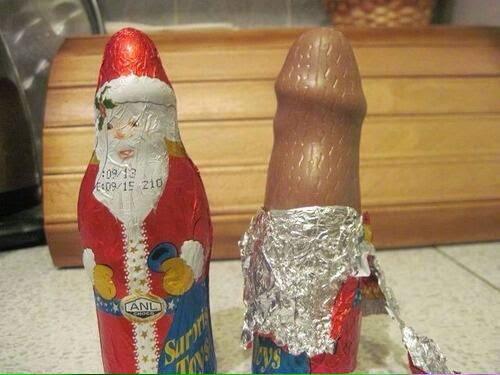 Santa Claus. bizarre chocolate. #SantaClaus #bizarre #Chocolate #Penis