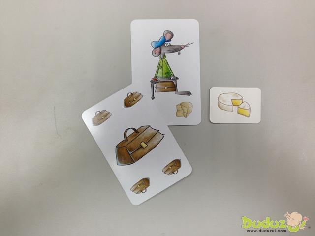 當手上衣物排汗老鼠身上有相同的配件,馬上用那張卡牌來打老鼠。