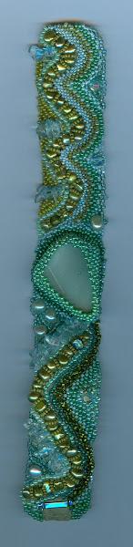 Beach glass cuff #1