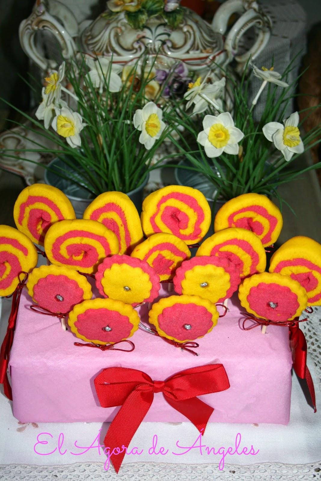 piruletas de galleta,galletas esperales. galletas de mantequilla, cumpleaños